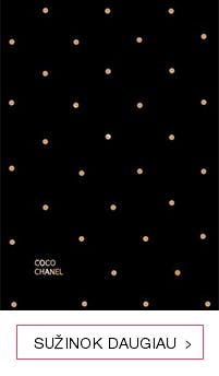 Maža juoda knygutė su Coco Chanel citatomis