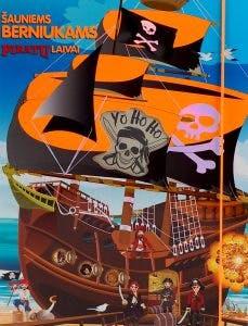 Šauniems berniukams. Piratų laivai