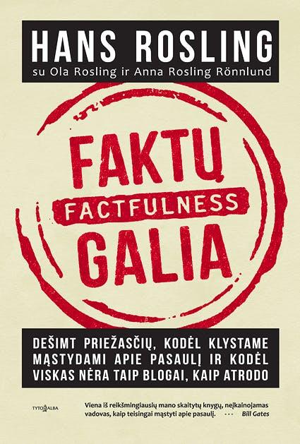 FAKTŲ GALIA. Factfulness: viena svarbiausių pastarųjų metų knygų, jau pakeitusi daugybės žmonių supratimą apie gyvenimą!