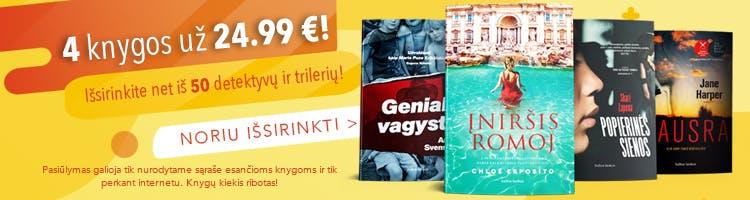 Išsirinkite 4 knygas ir mokėkite vos 24.99 €!
