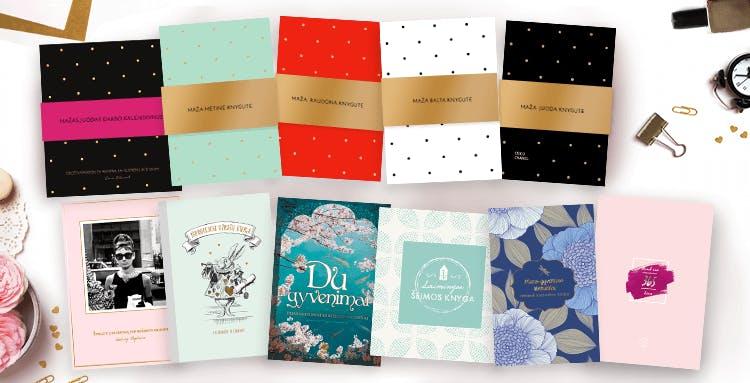 mažas juodas darbo kalendorius ir kitos stilingos knygutės
