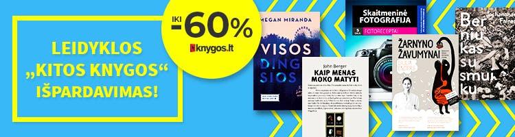 Leidyklos KITOS KNYGOS išpardavimas! Knygos iki -60% pigiau!