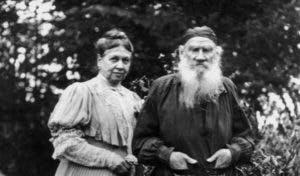 Levas Tolstojus su žmona Sofija